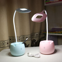 护眼台灯充电式宿舍学习书桌笔筒触摸调光学生儿童小夜灯