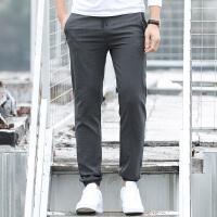吉普JEEP休闲长裤春夏薄款舒适人棉居家针织卫裤健身跑步运动长裤子