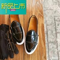 新品上市19新款韩国一脚蹬鞋男鞋潮流青年欧美铆钉低帮休闲懒人板鞋