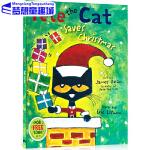英文原版绘本 Pete the Cat Saves Christmas 皮特猫系列 儿童故事图画书 吴敏兰书单