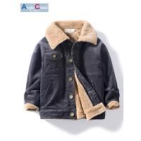 男童羊羔绒开衫儿童男宝宝宝灯芯绒夹克