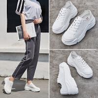 ZHR2019春季新款老爹鞋透气网鞋平底单鞋白色女鞋潮ins超火的鞋子