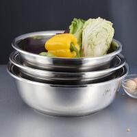 【三件套】不锈钢盆盆子家用洗菜盆加厚加深厨房打蛋盆和面盆套装 16CM18CM20CM