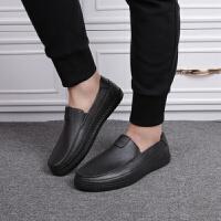 男时尚雨鞋雨靴低筒鞋厨房厨师胶鞋工作爸爸套鞋 黑色