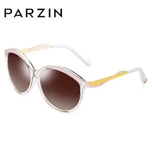帕森板材偏光太阳眼镜 女士优雅大框圆脸潮墨镜驾驶镜9617