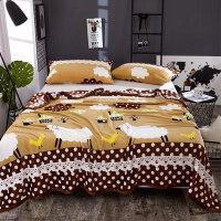 冬季珊瑚绒毯子法兰绒毛毯加厚床单1.8m办公室单人午睡毛巾小被子k