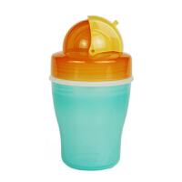 【当当自营】Pigeon贝亲 双层保温吸管杯(橙黄色杯)DA34 保温杯/杯子/保温壶/水壶/水杯/吸管杯 贝亲洗护喂养用品