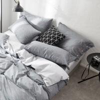 简约四件套全棉纯棉床单被罩三件套1.2单人学生宿舍1.5米双人1.8m定制