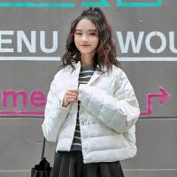 新年特惠白色轻羽绒服短款2019新款时尚白鸭绒女装韩版女式小款学生小个子 均码