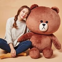 布朗熊公仔可妮兔毛�q玩具生日大�抱抱熊娃娃送女友圣�Q��Y物 布朗熊(裸熊) 2米【袋�b,送��35厘米】