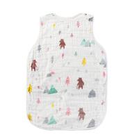 宝宝薄款睡袋婴儿春夏季空调房睡带大童薄棉夏天小孩六层纱布睡衣