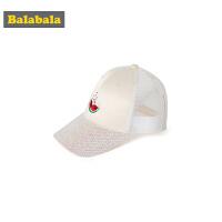 【4.9超品 3折价:23.7】巴拉巴拉女童帽子时尚潮帽儿童公主帽韩版亮片遮阳帽棒球帽鸭舌帽