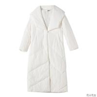冬季中式白鸭绒轻薄女羽绒服长款过膝民族风文艺复古盘扣加厚外套 白色