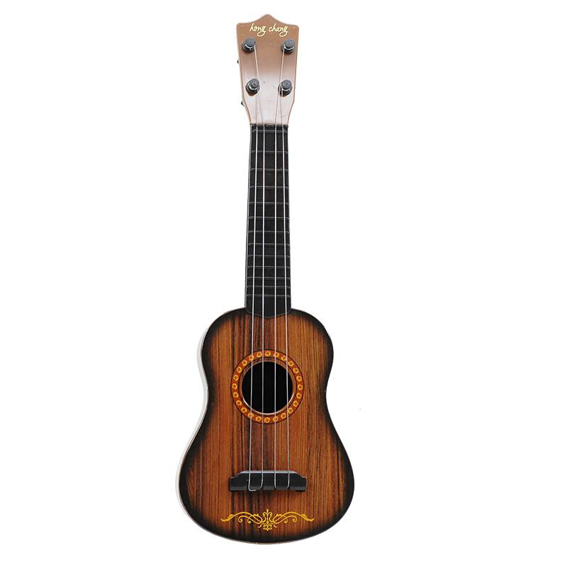 儿童玩具吉他尤克里里初学者可弹奏男孩女孩小乐器17寸小吉他抖 黑桃色