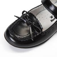 儿童皮鞋女中大童真皮公主鞋春秋新款小学生黑色表演鞋软底宝宝鞋