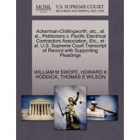 【预订】Ackerman-Chillingworth, Etc., et al., Petitioners V. Pa