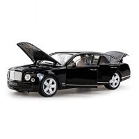 1:18车模原厂仿真合金汽车模型摆件收藏金属轿车模型 黑色 宾利慕尚