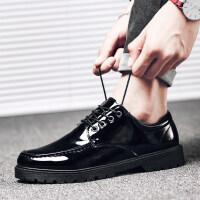休闲小皮鞋百搭男士板鞋发型师男鞋亮面潮鞋鞋子男秋冬季韩版潮流