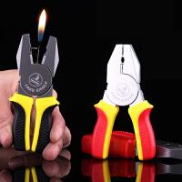 创意造型充气防风打火机 老虎钳镊子钳子模型仿真个性