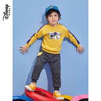 迪士尼童装2020春季新款儿童中小童休闲两件套男童时尚卫衣套装潮