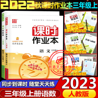 2020春课时作业本三年级语文数学下册2本人教版通城学典
