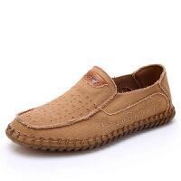 老北京布鞋男凉鞋夏季中老年人爸爸鞋软底一脚蹬休闲镂空透气网鞋