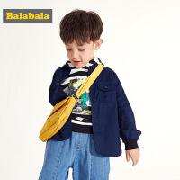 巴拉巴拉宝宝外套儿童春季2019新款小童男童洋气简约衬衫式上衣潮