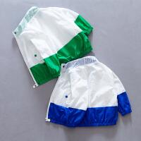 儿童防晒衣夏季宝宝防晒服男童拼接外套上衣