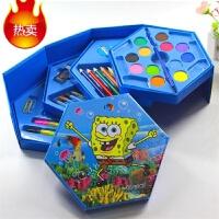 水彩笔绘画文具礼盒套装儿童蜡笔画笔工具幼儿园画画奖品 46色公主