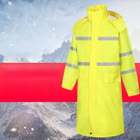反光雨衣外套长款连体成人男徒步双层防水加厚执勤保安劳保徒步