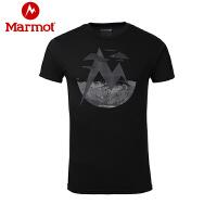Marmot/土拨鼠春夏新款户外轻薄透气圆领棉短袖男T恤_F900454