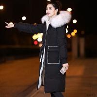 时尚棉衣女中长款2018冬装新款韩版加厚羽绒棉袄保暖百搭外套