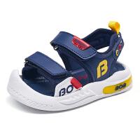 巴布豆bobdoghouse童鞋2021新款夏季儿童凉鞋男女童儿童沙滩鞋子-深蓝红