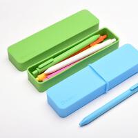 KACO PURE书源多功能硅胶盒中性笔套装儿童文具彩色铅笔盒礼物