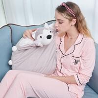 儿童卡通毛绒玩具外套乳胶枕头宝宝动物抱枕护颈枕芯y