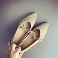 瓢鞋大码单鞋秋鞋女2018新款四季女学生豆豆鞋尖头平底鞋女浅口