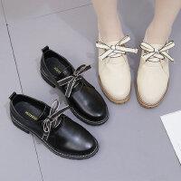 韩版百搭女士学生单鞋子 新款森女系蝴蝶结皮鞋 ins小皮鞋潮英伦风软妹女鞋