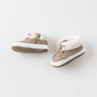 davebella戴维贝拉童装冬季新款男宝宝婴幼儿软底步前鞋DB11596