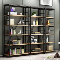 隔断书架置物架实木屏风落地展示书柜现代层架 创意隔板简约钢木书架组合展架书柜