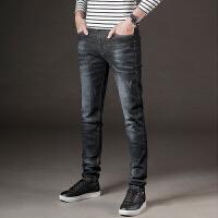 秋冬季牛仔裤男修身型小脚弹力简约青年休闲韩版男士长裤子潮