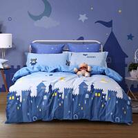 水星家� 卡通全棉印花三/四件套�和�抗菌床�伪徽�W生套件�和�床上用品 �w行�b