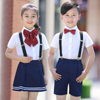 儿童礼服幼儿园小学生背带裤合唱演出服合唱服男童女童表演服