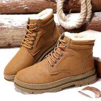 马丁靴冬季男鞋子加绒保暖棉鞋男士高帮鞋休闲户外短靴男青年加厚