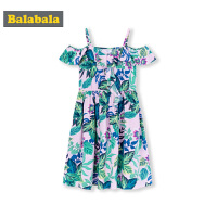 巴拉巴拉儿童裙子中大童夏装2019新款童装女童连衣裙度假风吊带裙