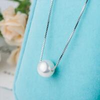 925银珍珠套链 意大利盒子项链日韩锁骨链 表白情人节礼物 珍珠项链