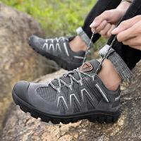 夏季户外登山鞋男透气网面鞋轻便防滑徒步鞋运动休闲鞋男