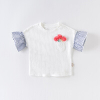 davebella戴维贝拉2020夏季新款女童短袖T恤宝宝打底衫DBJ13922