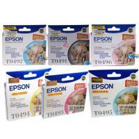 爱普生 T0491 T0492 T0493 T0494 T0495 T0496 六色套装 墨盒 适用于 RX230 R