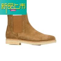 新品上市CMM靴男短靴马丁靴C 欧美手工尖头磨砂真皮鞋