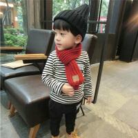 儿童围脖男保暖女孩加厚小围巾针织男童小孩女宝宝围巾秋冬季